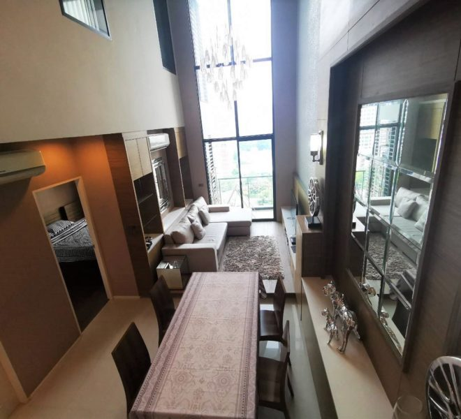 Duplex Villa Asoke Sale with Tenant - Luxury Condo on Mid Floor
