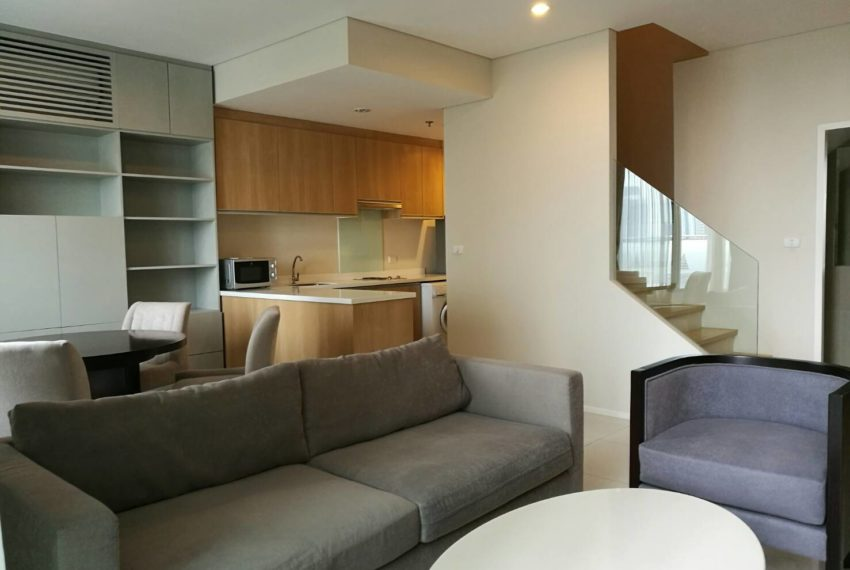 Villa Asoke - rent - 1b2b duples - low floor - builtin kitchen