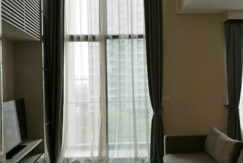 Villa Asoke - rent - 1b2b duples - low floor - living