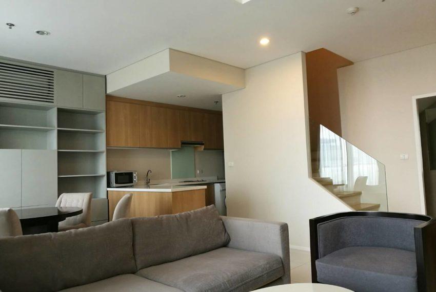 Villa Asoke - rent - 1b2b duples - low floor - living room2