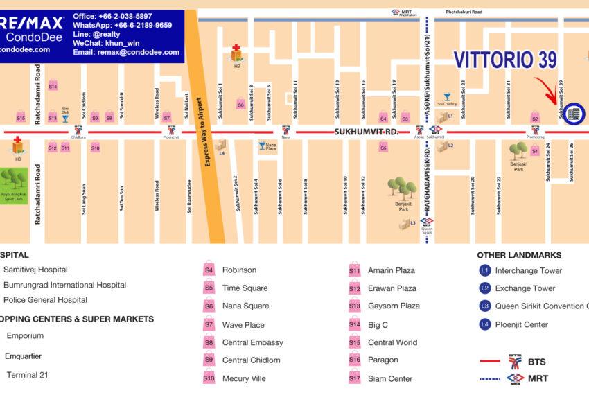 Vittorio 39 condo - map