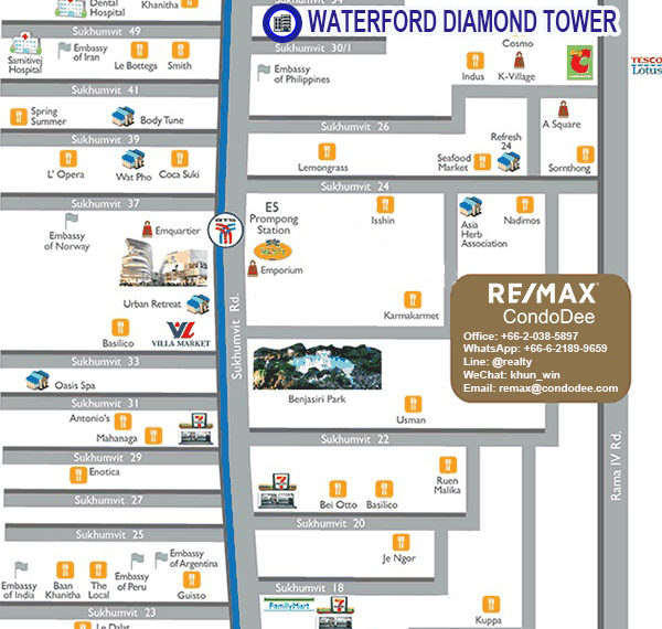 Waterford Diamond Tower - map