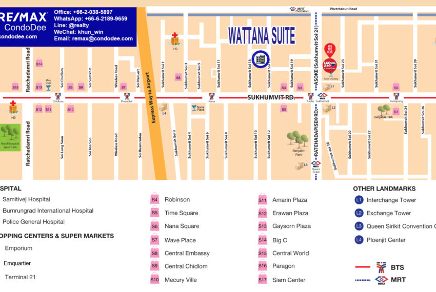 Wattana Suite condo - map