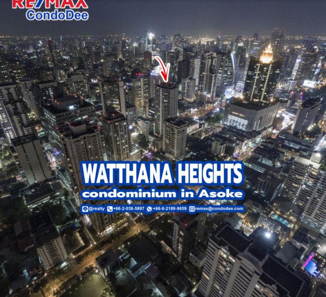 Watthana Height Condominium near Asoke BTS