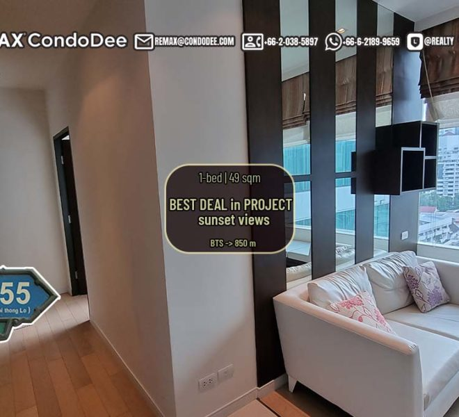 Bangkok condo for sale in Thonglor - 1 bedroom - mid-floor - Best Deal in Eight Thonglor Residence