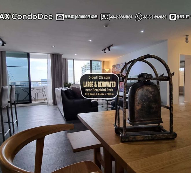 Large Renovated Condo With Park View For Sale Near BTS - Sukhumvit Casa