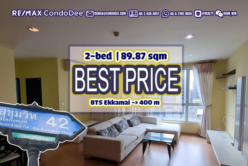 Condo For Sale Near BTS Ekkamai - 2-Bedroom - BEST PRICE in The Address Sukhumvit 42 Condominium