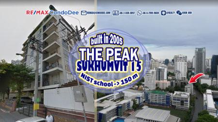 The Peak Sukhumvit 15 Bangkok Condominium Near NIST School and Canal
