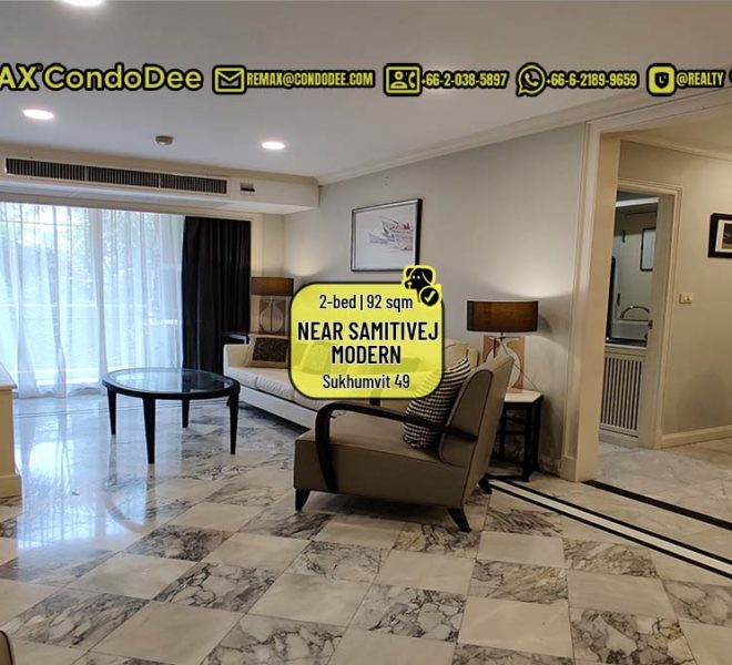 Condo for sale near Samitivej Hospital - 2-bedroom - PRICE REDUCED - Prime Mansion Promsri