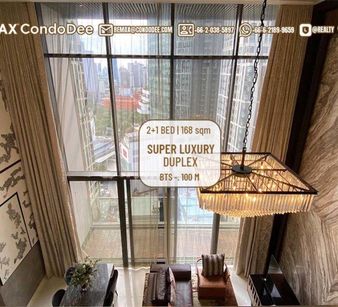 Luxury duplex condo for sale in Prompong - 2 bedroom - 1 study room - high floor - Vittorio 39