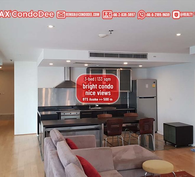 Large 2-bedroom condo in Asoke for sale - High Floor - Asoke Place
