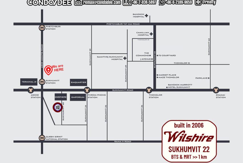 Wilshire condo - map