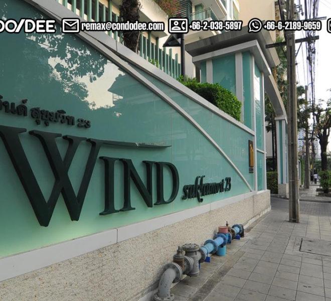Wind Sukhumvit 23 condominium at Asoke near BTS and MRT