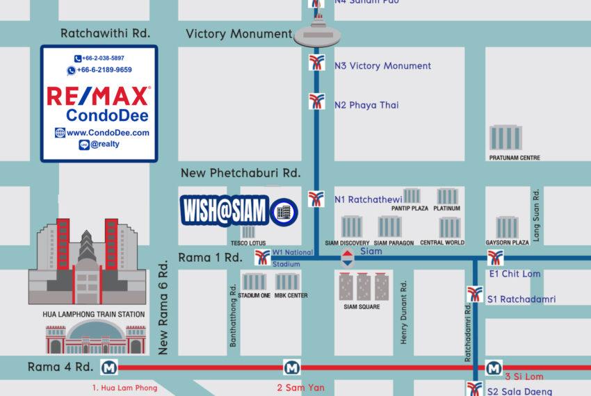 Wish Siam condo - map