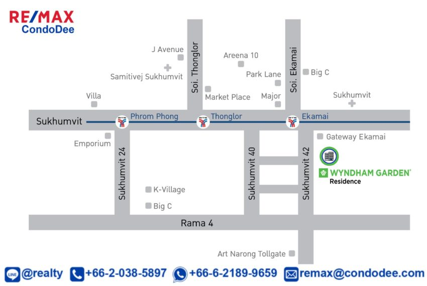 Wyndham Garden Residence at Sukhumvit 42 - map
