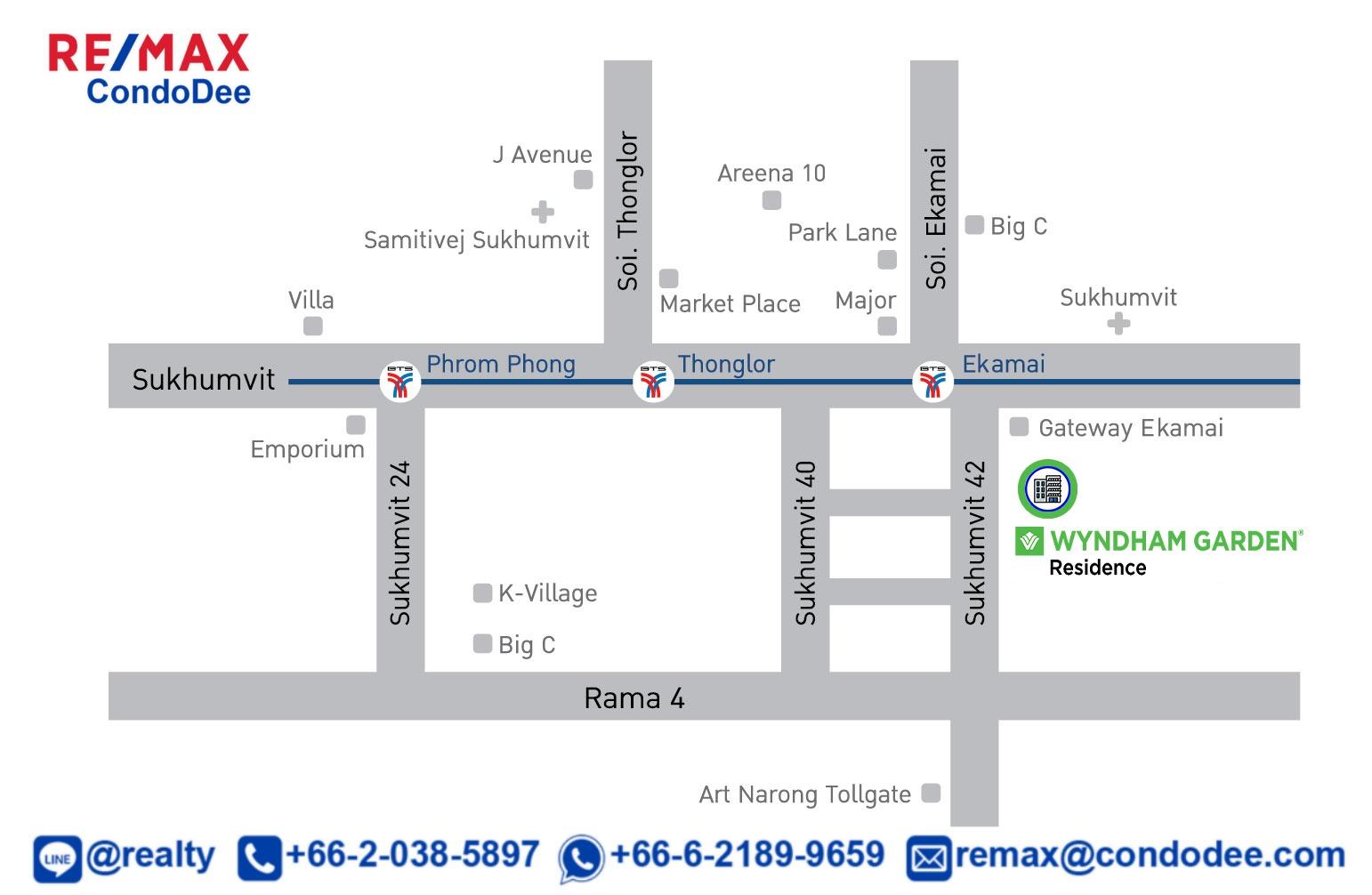 Wyndham Garden Residence Sukhumvit 42 Branded Condotel Near BTS Ekkamai