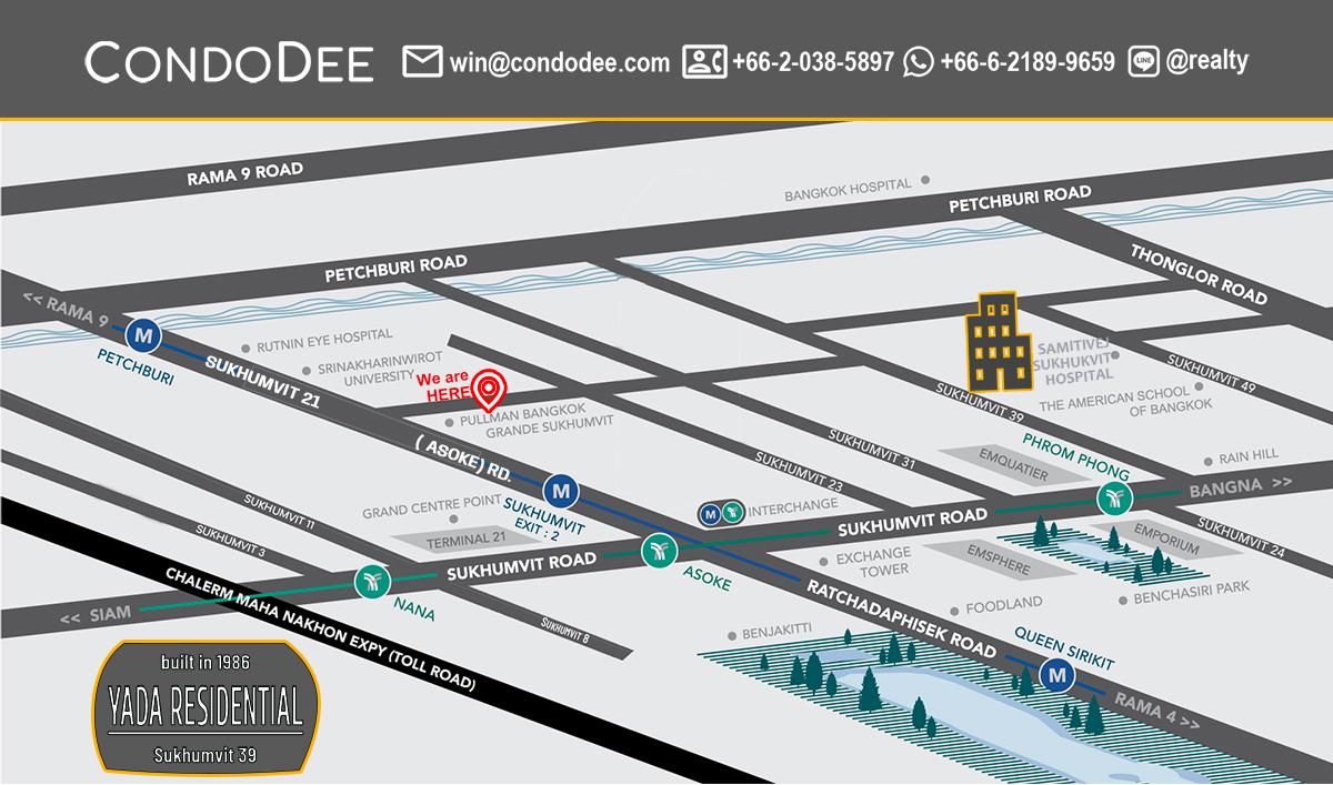 Yada Residential Bangkok Condominium in Sukhumvit 39