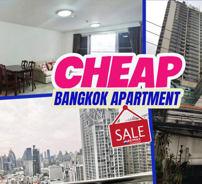 Cheap apartment on high floor for sale - 1-bedroom - Sukhumvit Suite Condominium