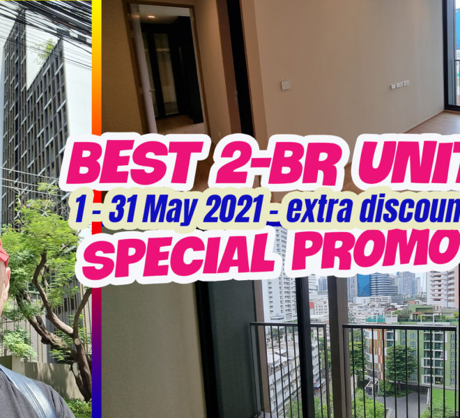 Best 2-bedroom new condo - special COVID promotion - FOREIGN FREEHOLD QUOTA - Noble Around Sukhumvit 33