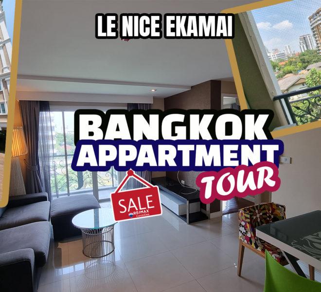 Bangkok apartment in Ekkamai for sale - 2-bedroom - corner unit - Le Nice
