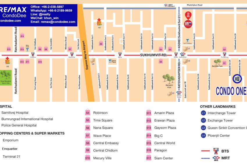 condo one X Sukhumvit 26 - map