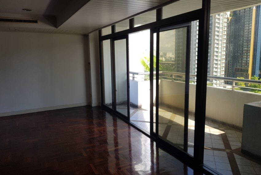 large balcony in living room