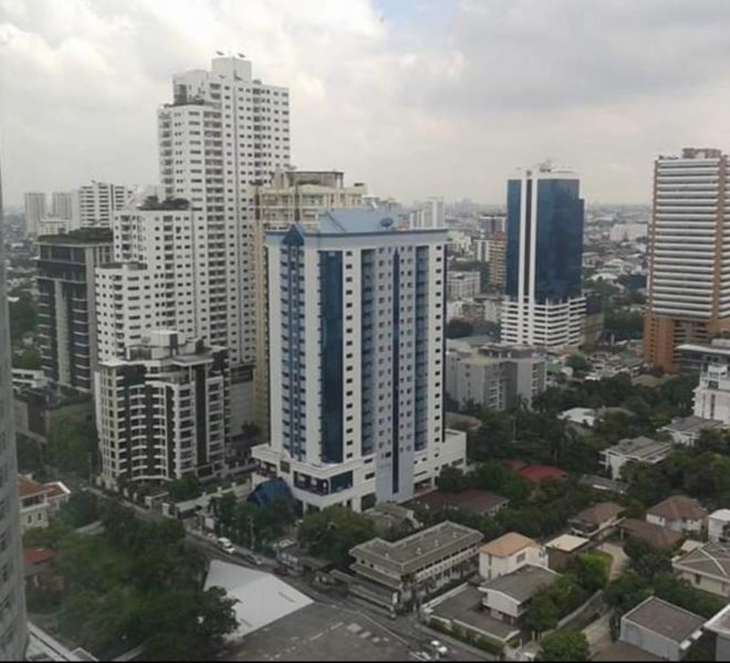 Condo with a nice view for rent - 2-bedroom - high floor - Siri at Sukhumvit