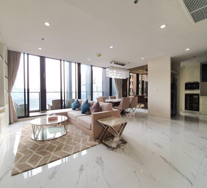 Duplex apartment for rent near Ploenchit BTS - 3-bedroom - high-floor - Noble Ploenchit