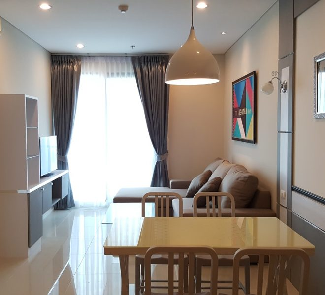 Flat for rent in Asoke near MRT Phetchaburi - 1 bedroom - mid-floor - Villa Asoke