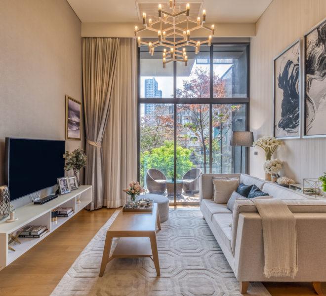 living aBrand-new 2-bedroom duplex for sale - low-floor - Siamese Exclusive Sukhumvit 31rea