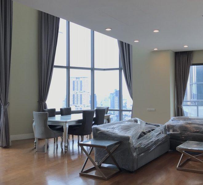 New Duplex Condo Sukhumvit 24 - 3-Bedroom - High Floor - Bright Sukhumvit 24