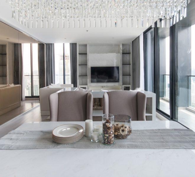 Duplex condo for rent near Ploenchit BTS - 3-bedroom - high-floor - Noble Ploenchit