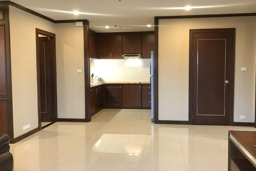living & kitchen area