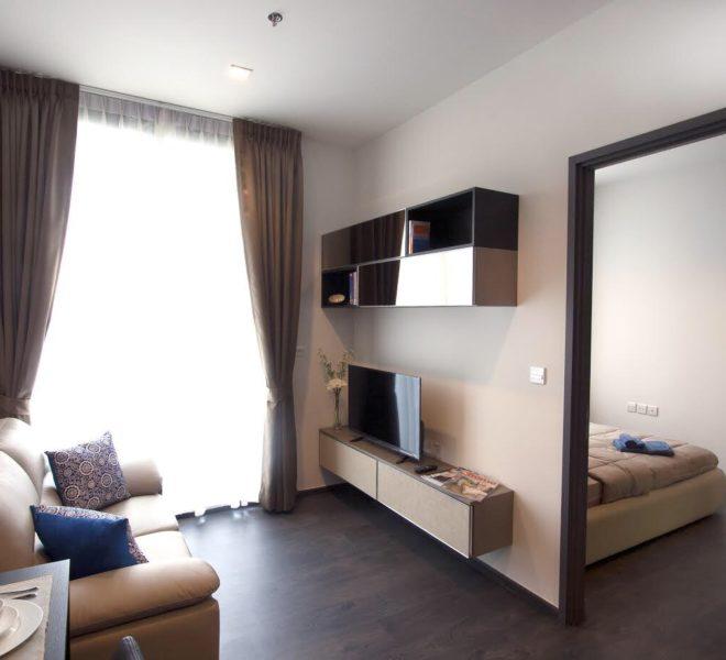 Flat for rent near Sukhumvit MRT - 1-bedroom - low floor - Edge Sukhumvit 23 condominium