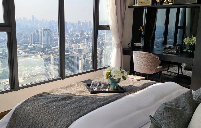master bedroom corner view