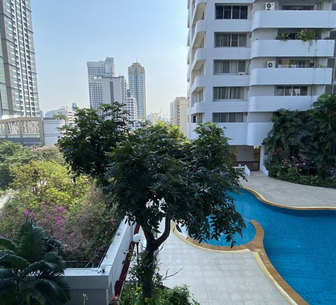 Large Bangkok apartment with greenery view - 3-bedroom - low floor - D.S. Tower 1 Sukhumvit 33