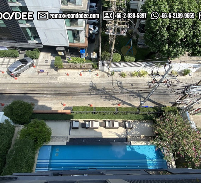 Duplex condo with a pool-view for sale - new - 3-bedroom - Maestro 02 Ruamrudee