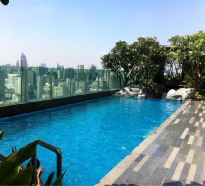 2-Bedroom Condo in The Address Asoke on High Floor - With Tenant Option